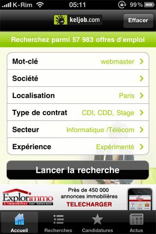 188 AppStore   KelJob : Rechercher un emploi depuis votre iPhone, iPod Touch et iPad