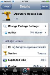 190 Cydia   AppStore Update Size : Pour voir la taille des applications sur lAppStore
