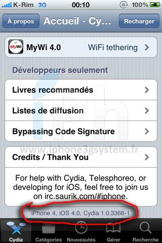2 Cydia   Nouvelle mise à jour pour liOS 4.2.x