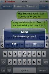217 Cydia   AskToSend : Demandez confirmation avant lenvoi dun SMS ou dun mail