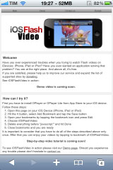 220 Tutoriel   iOSFlashVideo : Lire des vidéos Flash sans Jailbreak