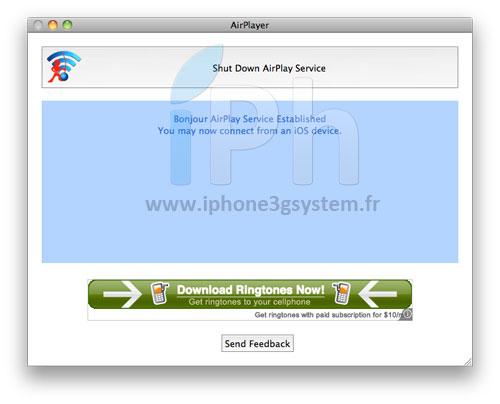 235 Tutoriel   AirPlayer : Lire des vidéos sur votre MAC en utilisant AirPlay depuis votre appareil sous iOS 4.2.1