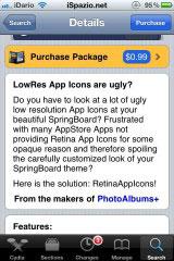 237 Cydia   RetinaAppIcons : Adaptez automatiquement les icônes à lécran Retina