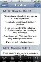 240 Cydia   LockInfo se met à jour : corrections de bugs !