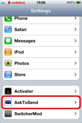 38 160x240 Cydia   AskToSend : Demandez confirmation avant lenvoi dun SMS ou dun mail