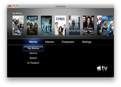 45808 Cydia   Exposed : Un serveur VNC pour Apple TV 2G