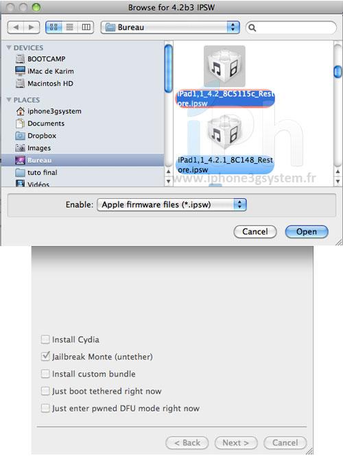 9 Tutoriel   Jailbreak Untethered iOS 4.2.1 avec Redsn0w 0.9.7b1 [MAC]