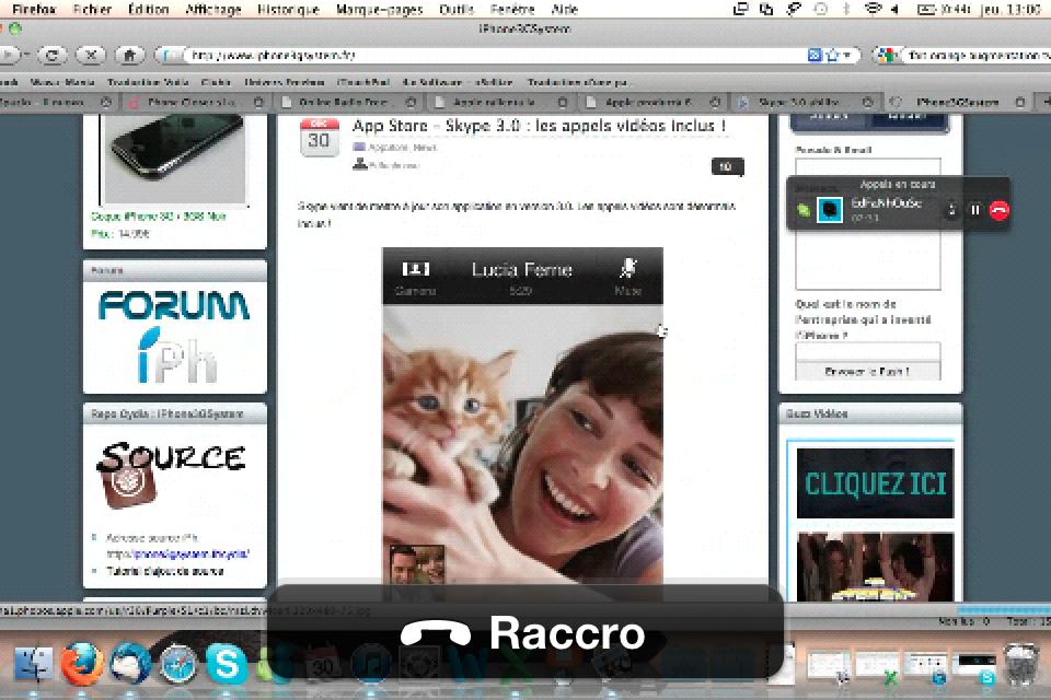 IMG 0155 News   Skype 3.0 : possibilité aussi de voir lécran de votre correspondant