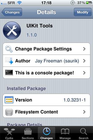 uikit Cydia   UIToolKit mis à jour : quelques corrections de bugs