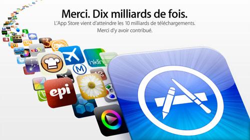 10miiliardsapp appstore Humour   10 milliards dapp téléchargées : Le gagnant raccroche au nez du vice président de iTunes