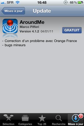 116 AppStore   AroundMe passe en version 4.1.2