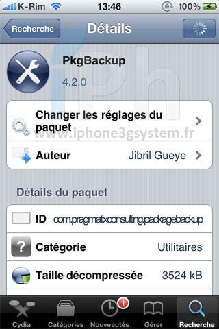 13 Cydia   PKGBackup passe en version 4.2.6