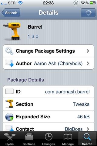 139 Cydia   Barrel passe en version 1.3.0