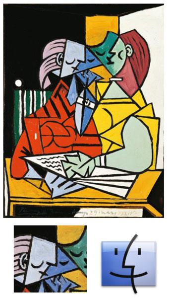 141 Insolite   Licône du Finder serait made by Picasso ?