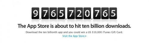 158 500x144 News   Bientôt 10 milliards de téléchargements sur lAppStore