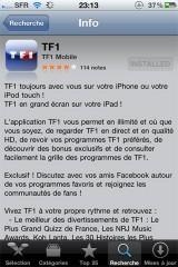 181 160x240 AppStore   Lapplication officielle de TF1 est disponible