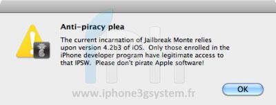 214 Jailbreak News   RedSn0w 0.9.7b6 : Corrige les problèmes de bluetooth et de Skype