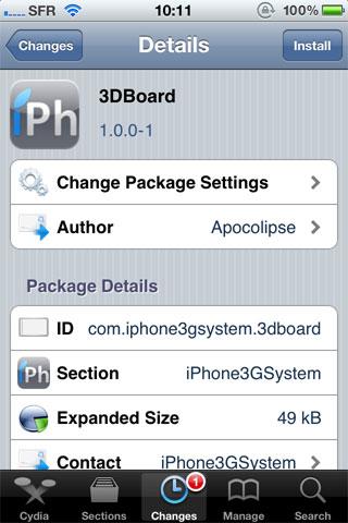 3Dboard Cydia   3DBoard est enfin disponible  [Vidéo]