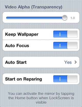 43 Cydia   Instant Mirror : Caméra frontale sur le lockscreen [CRACK]