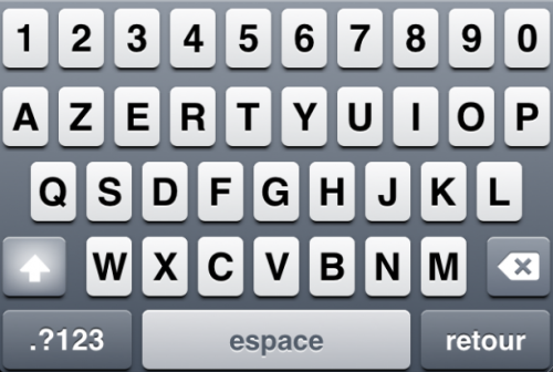Capture d'écran 2011 01 16 à 15.54.14 500x336 Cydia   5 Row French KeyBoard : Ajouter une 5° ligne à votre clavier