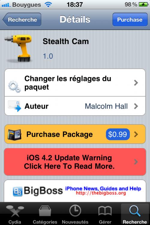 IMG 0092 500x750 Cydia   Stealth Cam : Prendre une photo alors que lécran est en veille [CRACK]