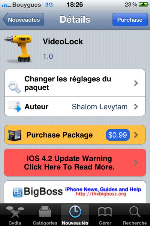 IMG 0102 500x750 Cydia   VideoLock : Continuer la lecture vidéo avec lécran verrouillé