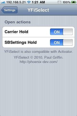 IMG 0244 Cydia   YFiSelect4 : Changer rapidement de réseau Wifi [EDIT]
