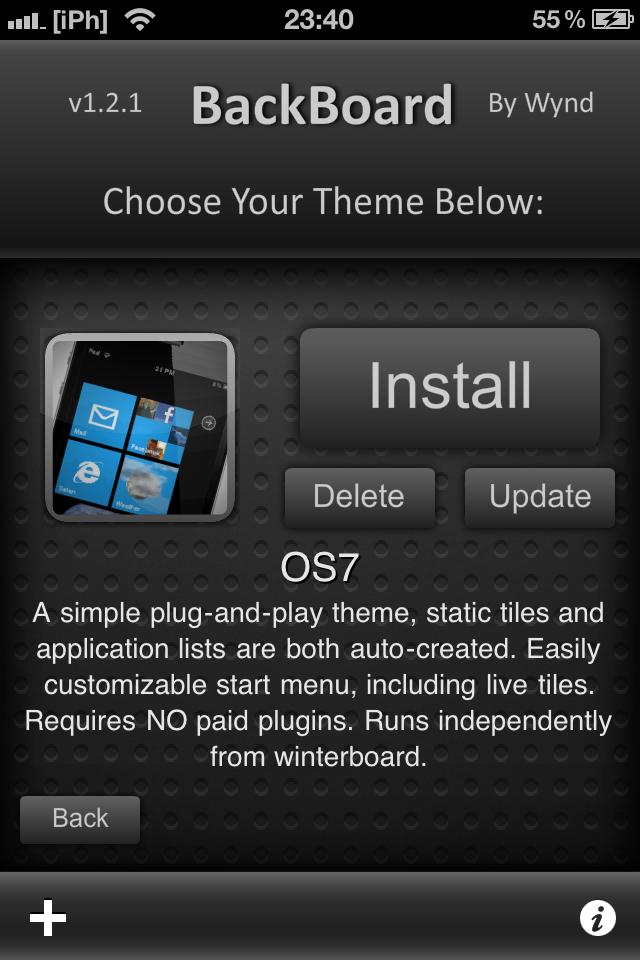 IMG 0261 Tutoriel   Installez le thème Windows Phone 7 sur votre iPhone