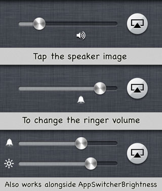 appswitcherringer Cydia   App Switcher Ringer : Modifier le volume de la sonnerie facilement