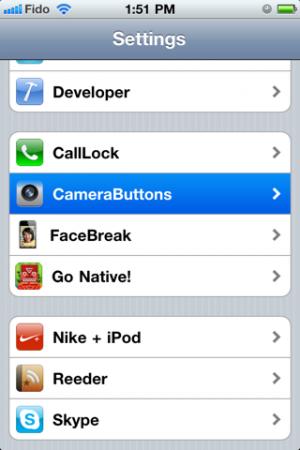 camerabuttons1 300x450 Cydia   CameraButtons : Prendre une photo sans lancer lAPN
