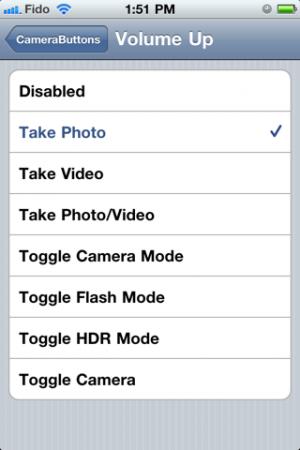 camerabuttons4 300x450 Cydia   CameraButtons : Prendre une photo sans lancer lAPN