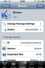 dimmer 160x240 Cydia   Dimmer : Pour diminuer encore plus la luminosité de votre écran [Dispo sur la Repo]