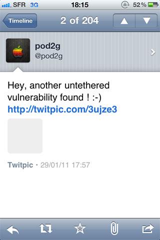 faille Jailbreak News   Une nouvelle faille pour le jailbreak untethered 4.2.1