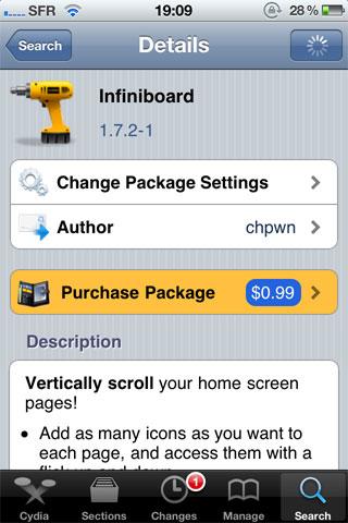 infini1 Cydia   Baisse des prix pour InfiniFolders et InfiniBoard