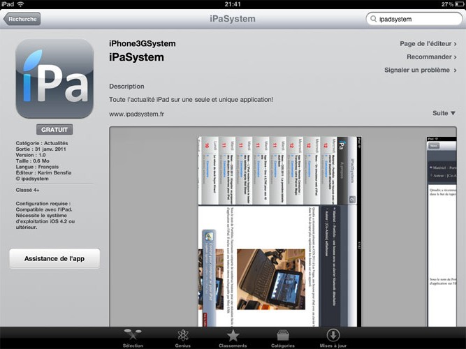 ipasystemappstore e1296507118188 AppStore News   iPaSystem : Lapplication iPadSystem enfin disponible !