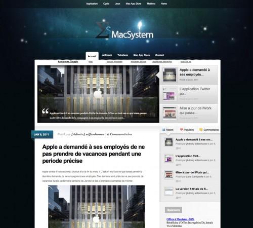 macsystem 500x450 News   Lancement de MacSystem.fr : Le blog dédié aux Mac