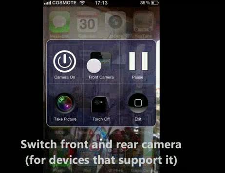 mwall Cydia   CameraWallpaper : Accédez rapidement à votre appareil photo