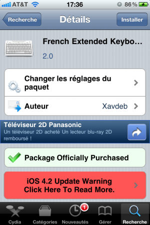 photo7 300x450 Cydia   5 Row French KeyBoard MAJ 2.0 [CRACK]
