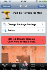 pull 160x240 Cydia   Pull To Refresh For Mail passe en version 1.1