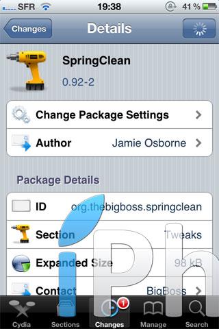 spring Cydia   SpringClean : Gérez totalement votre SpringBoard[Dispo sur la Repo]