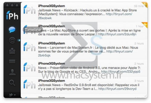 twitter client 500x341 Vidéo – Twitter : Démonstration vidéo du Mac App Store [MacSystem]