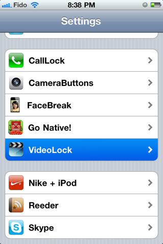 videolock1 Cydia   VideoLock : Continuer la lecture vidéo avec lécran verrouillé