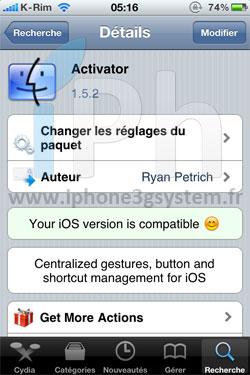 11 Cydia   Activator passe en version 1.5.2