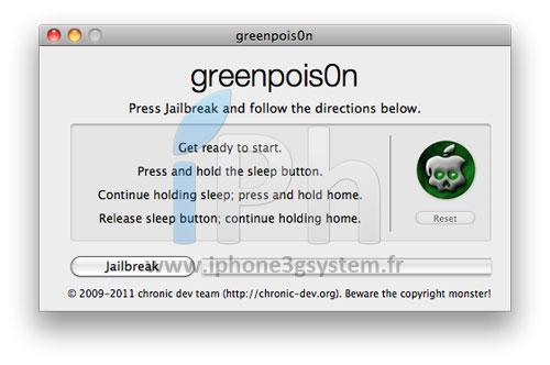 3 Tutoriel – GreenPois0n RC5 : Jailbreak 4.2.1 untethered iPhone, iPod Touch, iPad [MAC][VIDEO][MAJ]