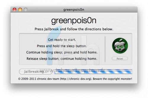4 Tutoriel – GreenPois0n RC5 : Jailbreak 4.2.1 untethered iPhone, iPod Touch, iPad [MAC][VIDEO][MAJ]