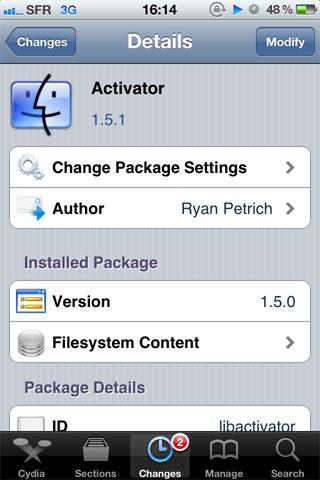 activ Cydia   Activator passe en version 1.5.1