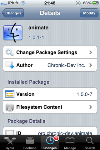 animate Cydia   Animate passe en version 1.0.1 1 [Dispo sur la repo]