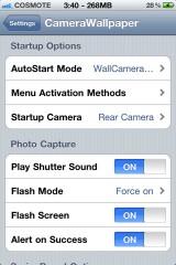 cam5 160x240 Cydia – CameraWallpaper : Quand l'appareil photo devient votre fond d'écran [CRACK]