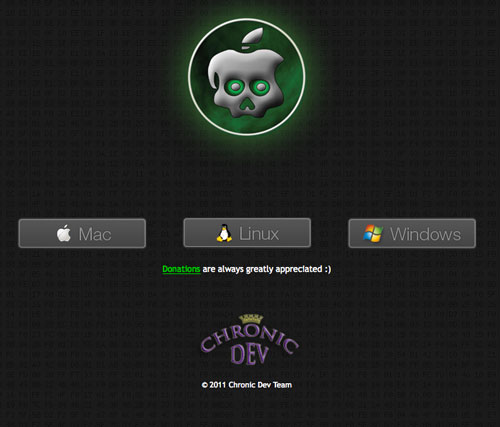 chronicdevteam gp Jailbreak News   GreenPois0n RC5 bêta 4 disponible pour MAC et WINDOWS