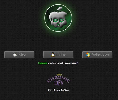 chronicdevteam gp Jailbreak News   GreenPois0n RC5 bêta 4 disponible pour MAC et WINDOWS